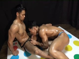Hot Japanese Hunks play Twister
