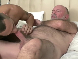 Father comes comfort in his son's hole