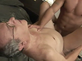 Young latino fucks two older daddies one after the other