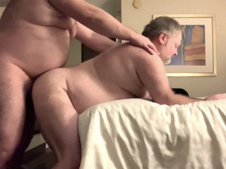 chubby old man sucks cock gets bare fucked