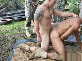 Military men assfucking after bj foreplay