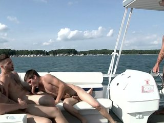 Chip Young, Cruize And Johnny Rapid In Gay Boat