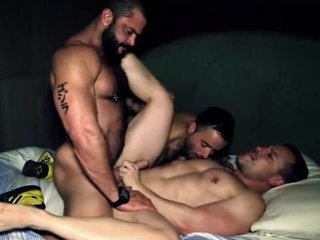 Rogan Richards Fucks in a Threesome ( Hairy Muscle )