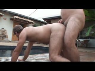 daddy fuck bear at poolside